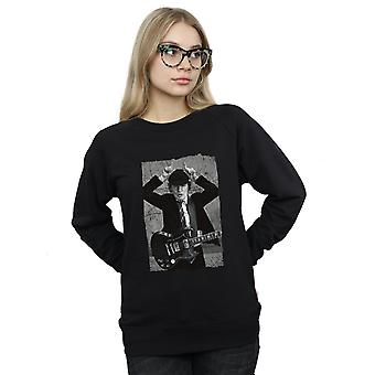 AC/DC Women es Angus Young Distressed Photo Sweatshirt