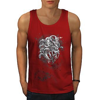 Devil Beast Blood Men RedTank Top | Wellcoda
