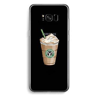 三星銀河 S8 プラス透明ケース (ソフト) - 最初のコーヒーが、