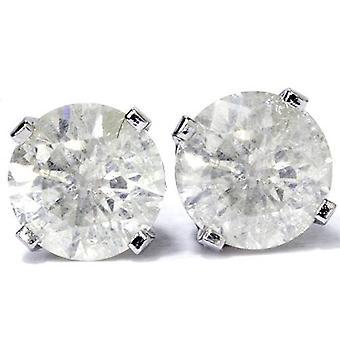 1/4 ctw 14k White Gold Diamond Bezel Martini Stud Earrings Lab Grown