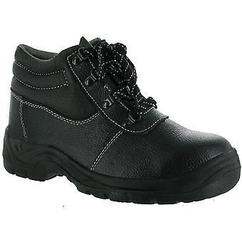 Centek Mens FS330 Leather S1 Work Safety Boot Black