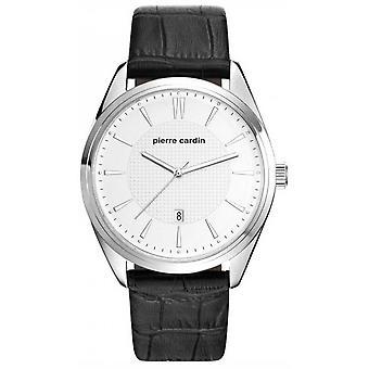 Pierre Cardin mens watch wristwatch Bourse leather PC107861F07