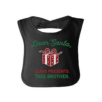 عزيزي سانتا تأخذ الأخ أول عيد الميلاد بيبي المريلة لشقيق الطفل