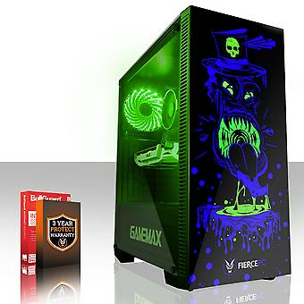 Felle GOBBLER Gaming PC, snelle Intel Core i5 8600 K 4.5 GHz, 2 TB SSHD, 16 GB RAM, RTX 2070 8 GB