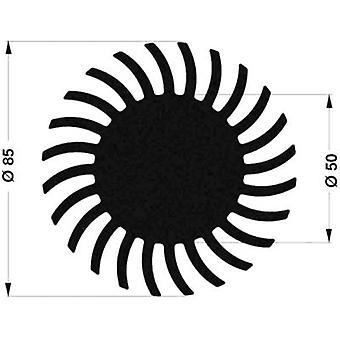 """פישר אלקטרונית SK 572 10 ME כיור חום LED 2.65 K/W (Ø x H) 85 mm x 10 מ""""מ"""