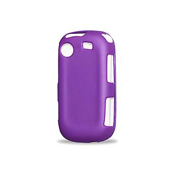 Reiko - Rubberized Protector Skin Cover for Samsung R631 - Purple