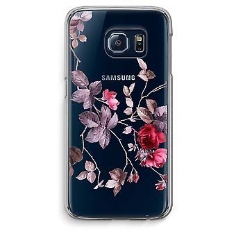 Samsung Galaxy S6 Transparent Grenzfall (Soft) - schöne Blumen