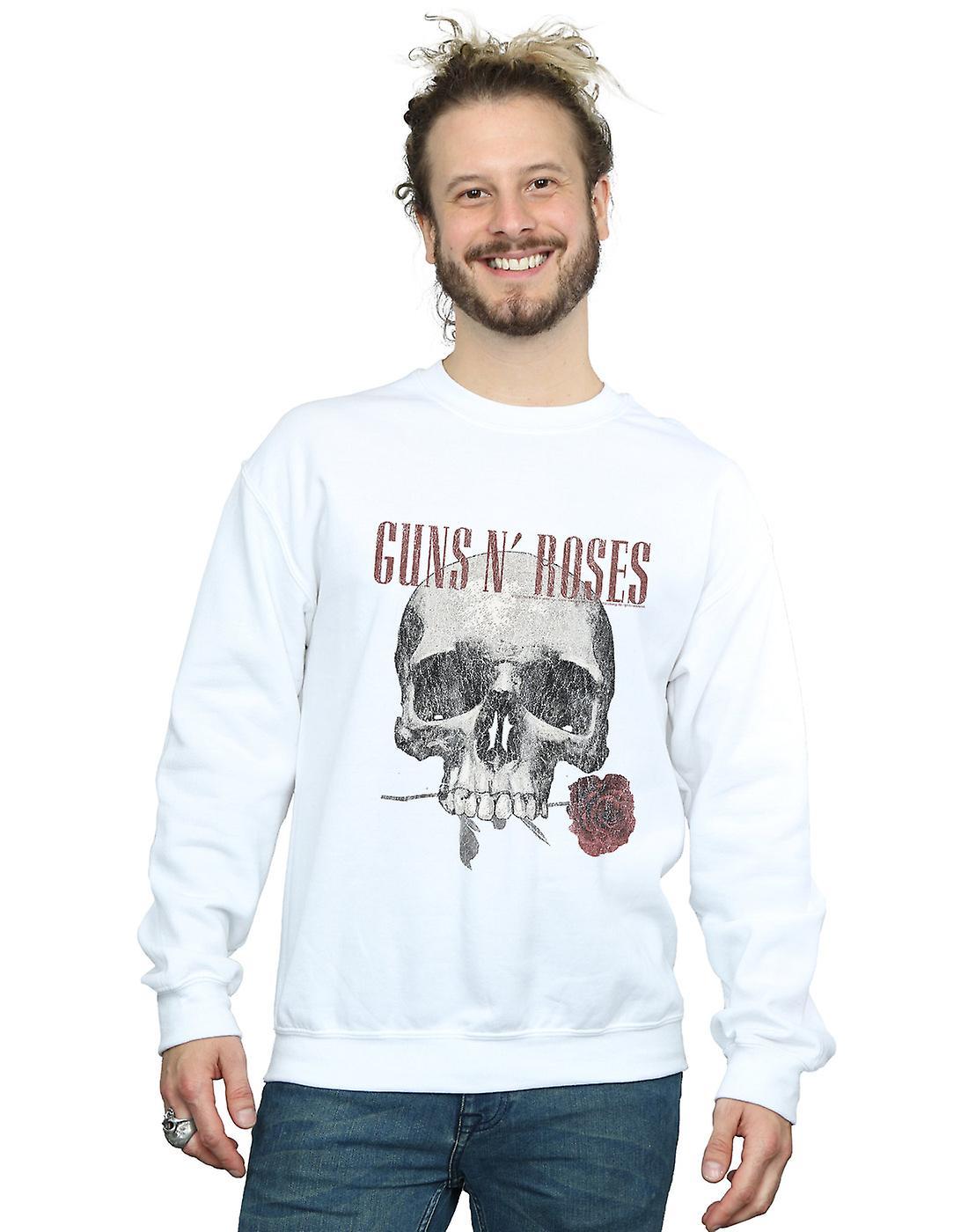 Guns N Roses Men's Flower Skull Sweatshirt