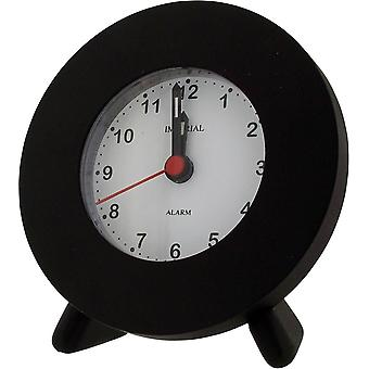 Gift Time Products Small Round Alarm Clock - Black
