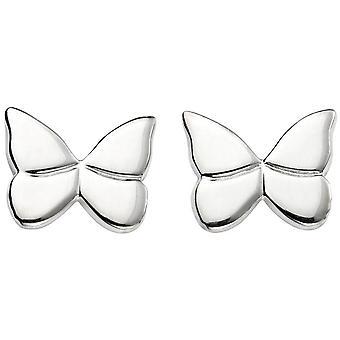 Beginnings Butterfly Stud Earrings - Silver