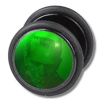 Falske snyder øret Plug, ørering, krop smykker, grønne Monster
