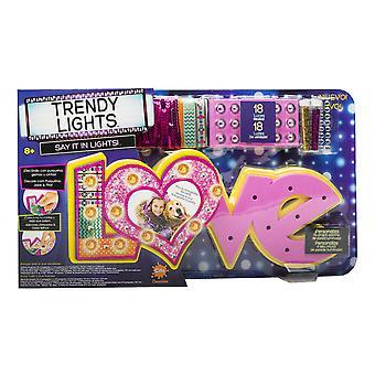 Trendige Licht Liebe