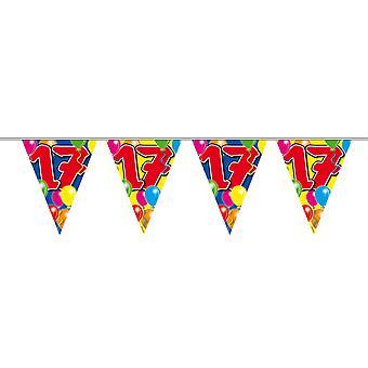 Gagliardetto catena 10 m numero 17 anni compleanno decorazione festa Garland