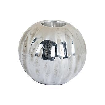 Hill interieurs Medium sferische gedetailleerd metalen keramische waxinelicht houder