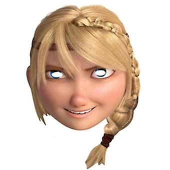 Astrid How To Train Your Dragon 2 Party Card Fancy Dress Mask (single)