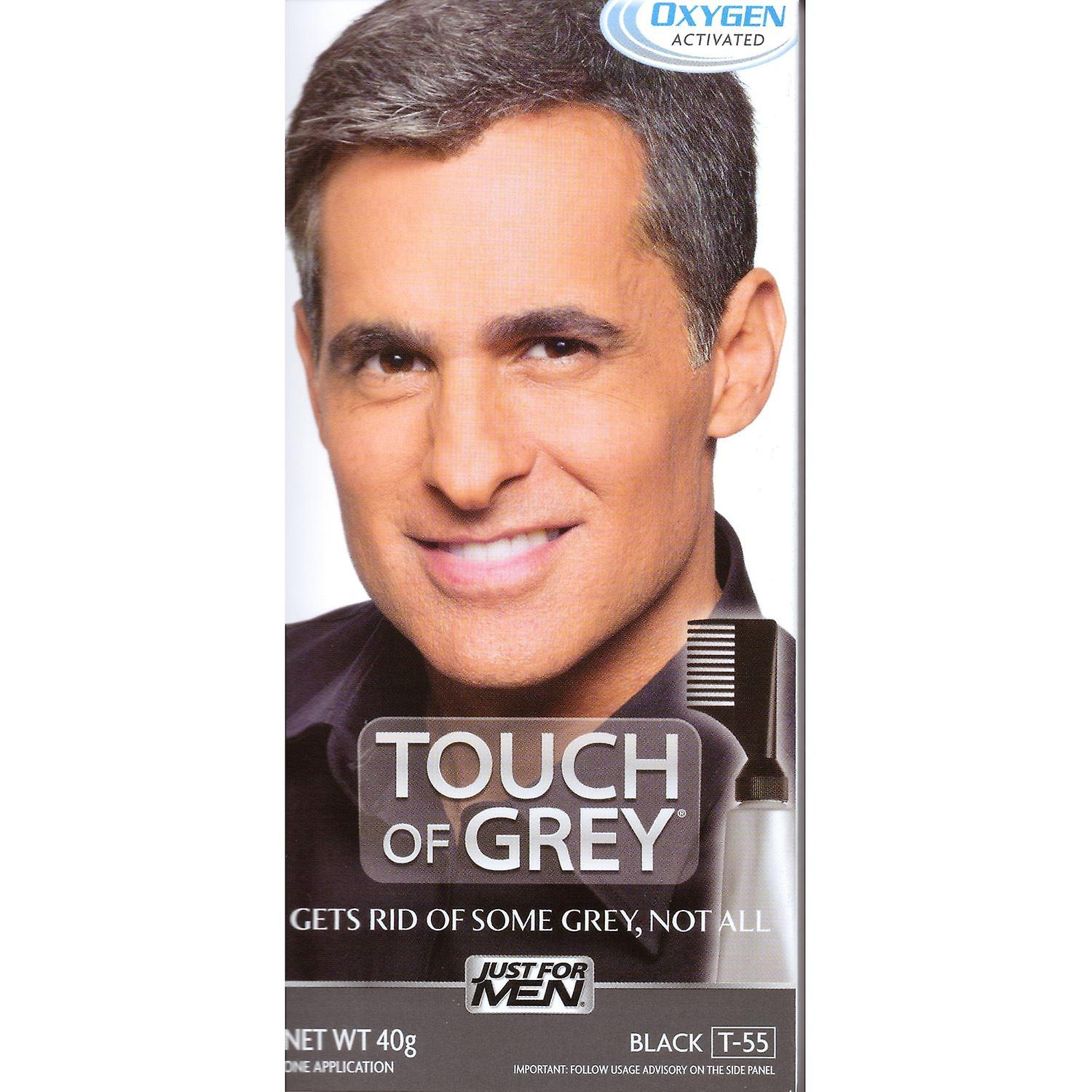 Touch Of Grey Mens Hair Treatment  - Black Grey T55