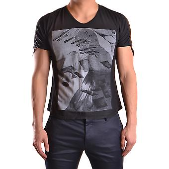 Tom Rebl Ezbc151009 Men's Black Cotton T-shirt