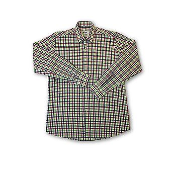 Ingram shirt in green and pink check pattern
