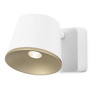 LEDS-C4 Drone Adjustable White And Gold LED 7w 550 Lumen Spotlight