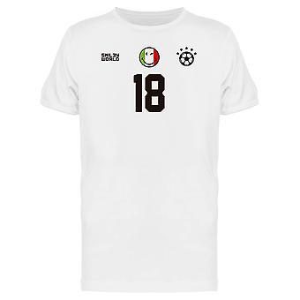 SmileyWorld Italy Soccer 18 Sports Graphic Men's T-shirt