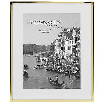 Juliana Impressions Brass Plated Photo Frame 6x8 - Gold