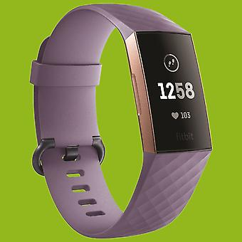 Para Fitbit Charge 3 pulsera plástica/silicona para mujer/talla S Hell Purple Watch
