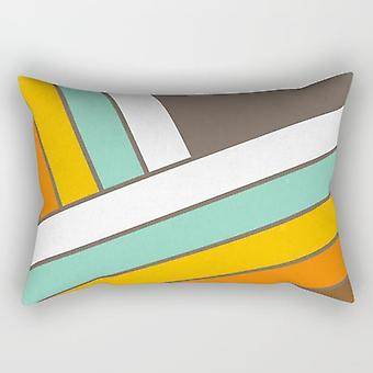 Abstract stripes rectangle pillow
