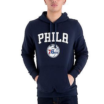 New Era Fleece Hoody-NBA Philadelphia 76ers navy