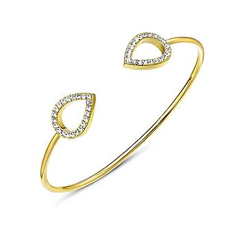 Kaytie Wu Gold Plated Water Drop Bangle With Swarovki Crystals 28008