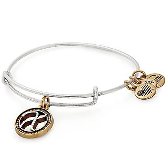 Alex And Ani Initial X Two Tone Charm Bangle