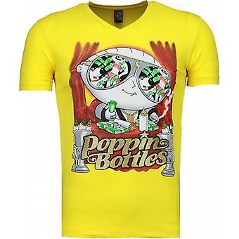 Poppin Stewie-T-shirt-Yellow