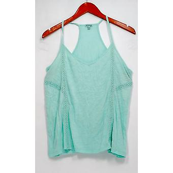 P J Salvage Top Embellished Scoop Neck Camisole Green