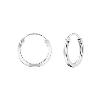 Round - 925 Sterling Silver Ear Hoops - W24344x