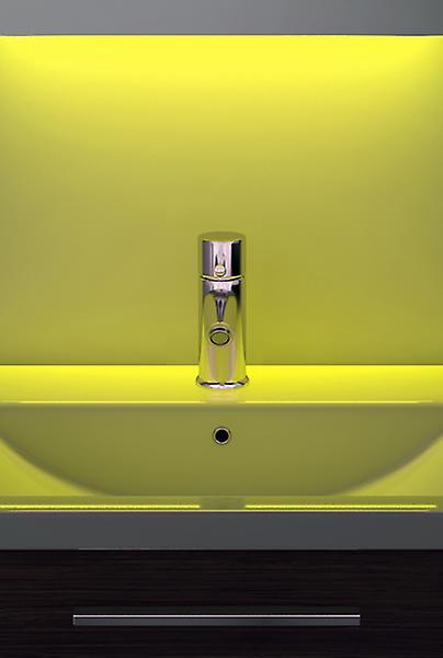 Digital Clock Shaver Mirror with Under Lighting, Demist & Sensor k193w