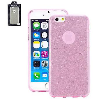 Perlecom Back cover Apple iPhone 7 Rose, efect glitter