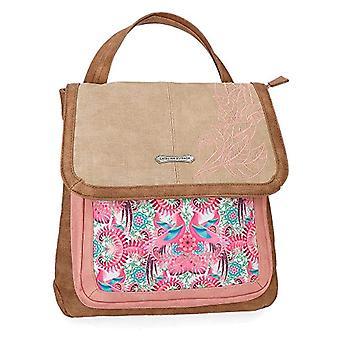 Catalina Estrada Faisan Beige Casual Backpack Shoulder Bag