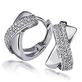 Goldmaid - Women's circle earrings with cubic zirconia - sterling silver 925