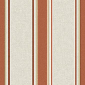 Striped Glitter Wallpaper Sparkling Burnt Orange Gold Embossed Superfresco