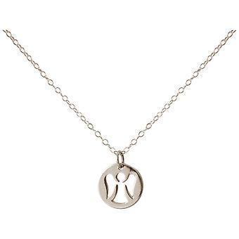 Gemshine colar pingente anjo guardião anjo 925 prata ou banhado a ouro 1,3 cm