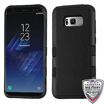 MYBAT natuurlijke zwart/zwart TUFF Hybrid Case voor Galaxy S8 plus