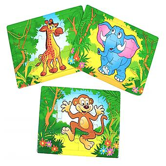 Single Wild Jungle Animal Puzzle for Kids Party Bags