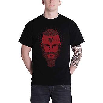 Vikings T Shirt Ragner Face TV Show Official Mens New Black