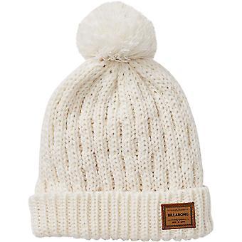 Billabong Good Vibes Bobble Hat in Snow