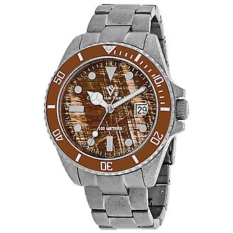 Christian Van Sant Hommes apos;s Montego Vintage Brown Dial Watch - CV5101B