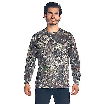 Camo Hunting Long Sleeve Shirt w/ PocketCamouflage Authentic True Timber