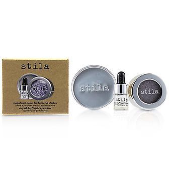 Stila Magníficos Metales Foil Acabado Sombra De Ojos Con Mini Estancia Todo el Día Líquido Eye Primer - Metal lavanda 2pcs