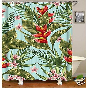 Tropical Red And Green Shower Curtain