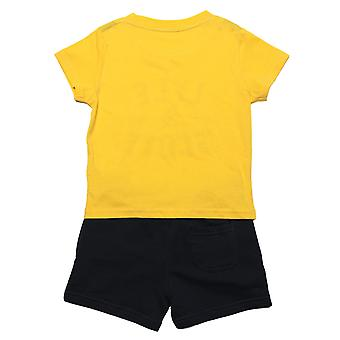 Baby Boys Lyle And Scott T-Shirt Short Set In Yellow- T-Shirt:- Short Sleeve-