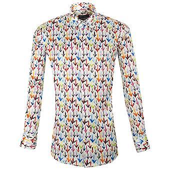 Oscar Banks Multicoloured Arrow Patterned Mens Shirt