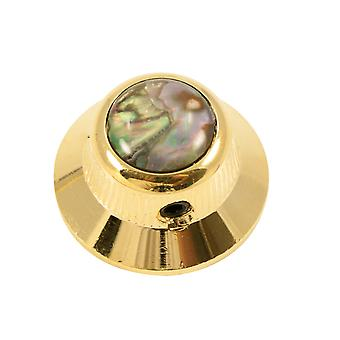 Q Parts Ufo Knob - Abalone Shell Cap - Natural / Gold Base